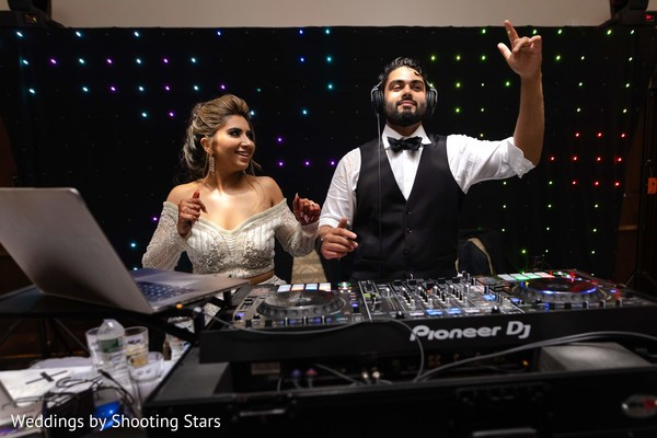 Indian groom and Maharani taking over the DJ turntables