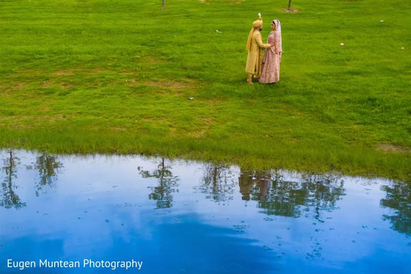 Indian couple at the garden photo shoot
