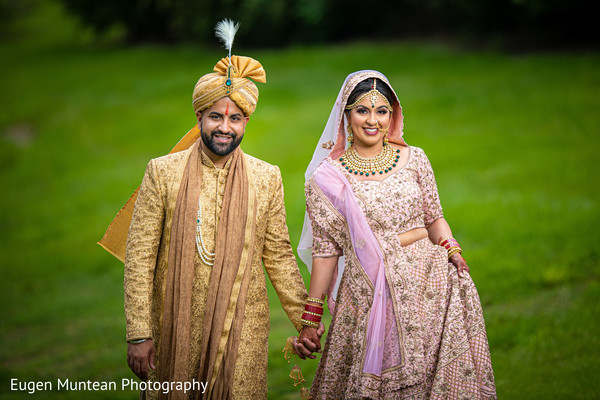 Indian wedding photo session at the garden