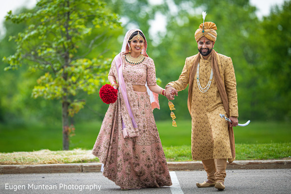 indian Groom in golden sherwani