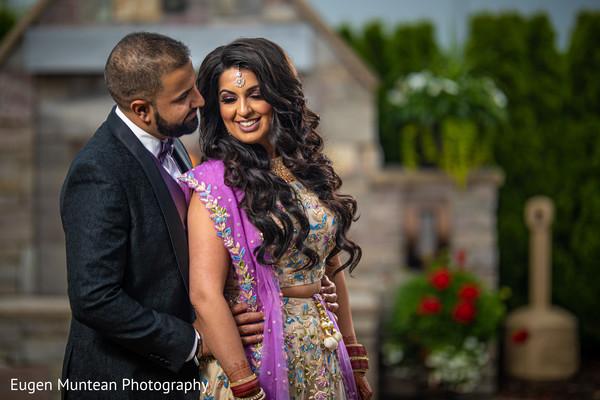 indian wedding reception dress couple photo shoot