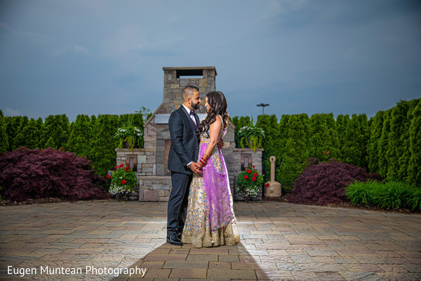 indian wedding reception bridal portrait