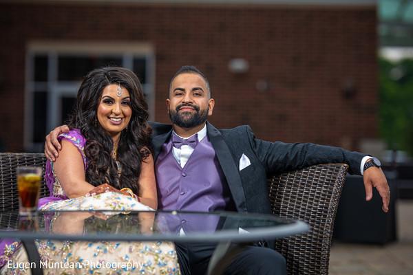 indian groom in purple suit