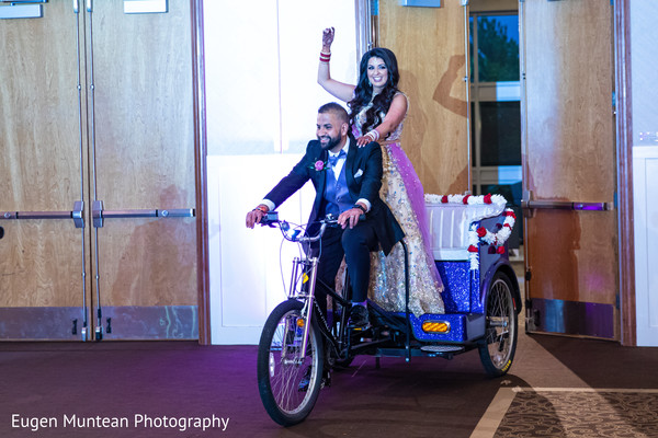 Indian newlyweds entrance