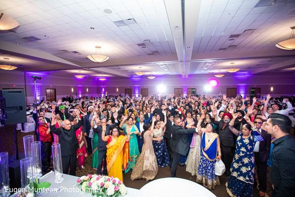 Indian wedding reception celebration