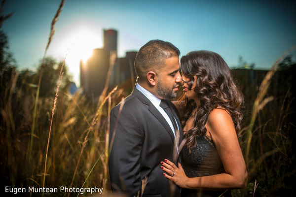 Indian newlyweds together for photo shoot
