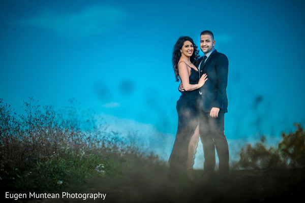 Indian couple outdoors photo shoot