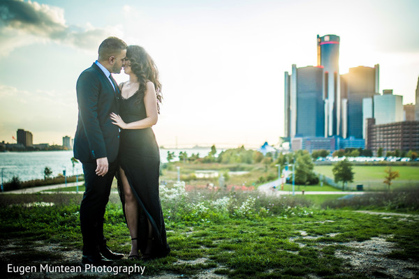 Indian newlyweds outdoors photo shoot