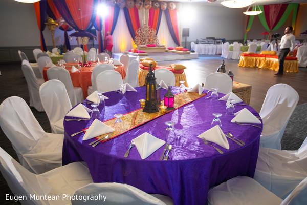 Indian wedding table centerpiece
