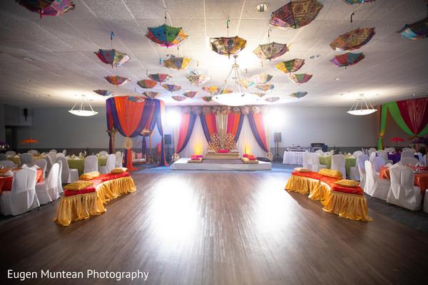 Indian wedding reception venue decoration