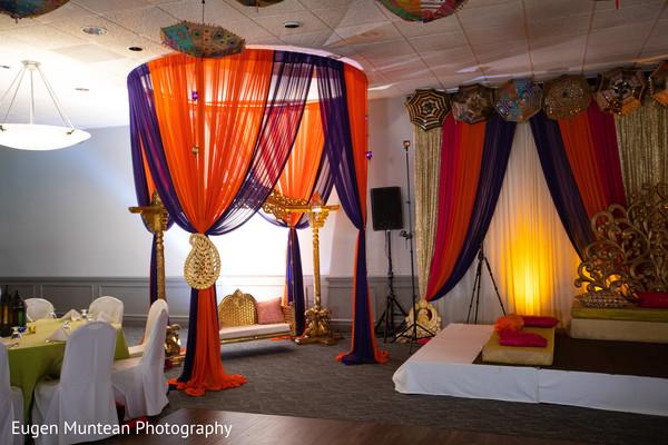 Indian wedding reception stage decoration