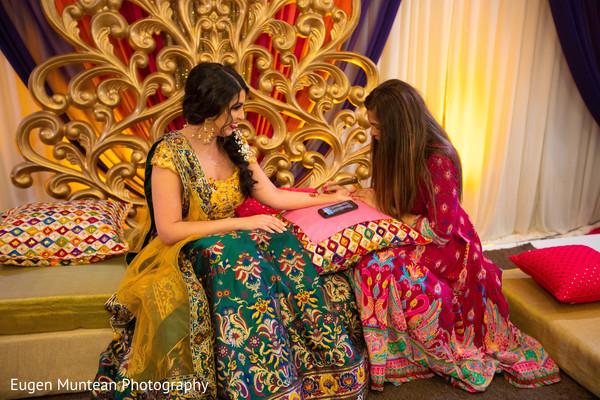 Indian bride on their mehndi fashion