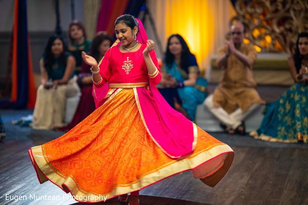 Indian wedding dancer at reception
