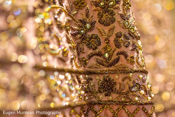Maharani's rose and gold lengha