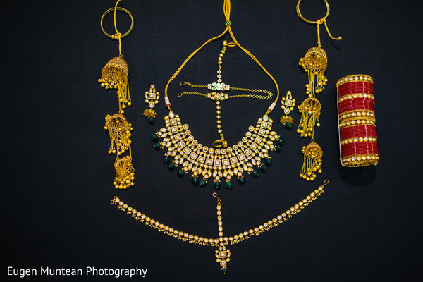 necklace and earrings used by Indian bride