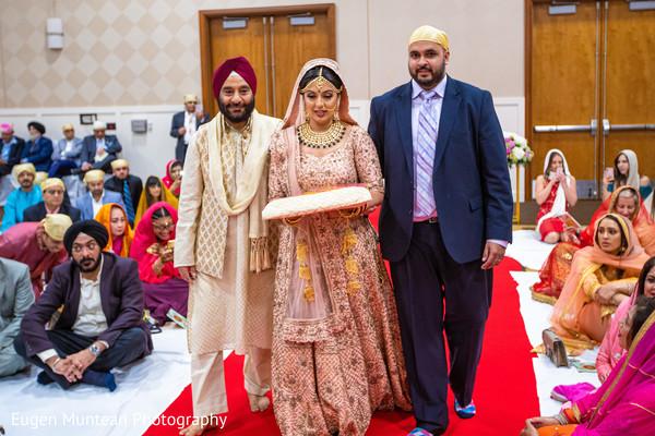 Maharani making her entrance to sikh ceremony.