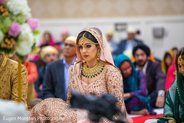 Maharani wering her ceremony lehenga.
