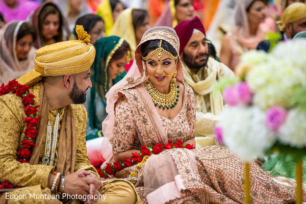 Indian couple at wedding ceremony capture.