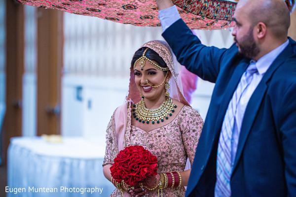 Indian bridal wedding ceremony entrance.