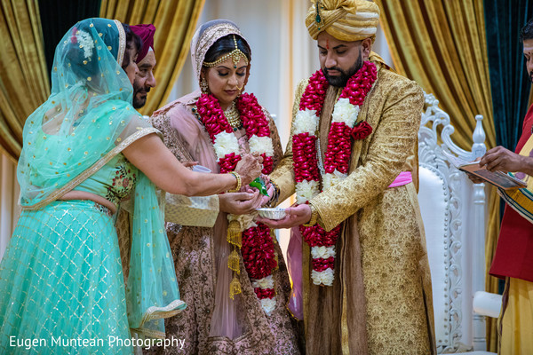 Indian wedding leaf ritual.