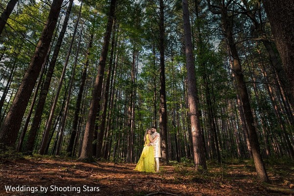 Indian couple surrounded by nature