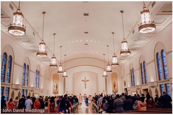 Indian Christian wedding church.