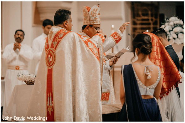 Indian Christian wedding ceremony photograph