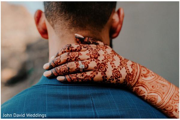 Indian bridal mehndi art capture.