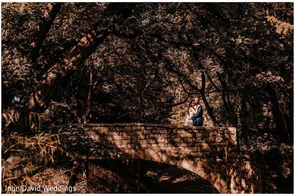 Indian couple on a bridge photo session.