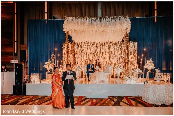 Indain wedding reception speech capture.
