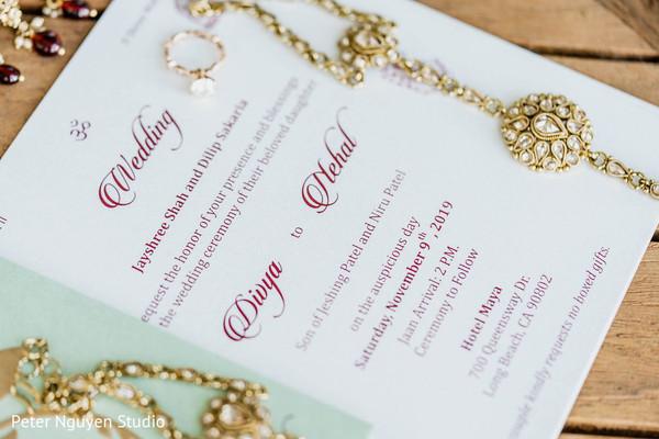 Indian wedding jewelry and invites