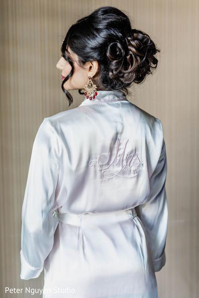 Maharani wearing Mrs wedding robe