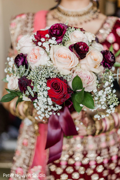 Maharani's wedding ceremony roses bouquet.