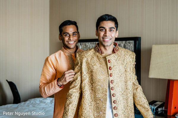 Indian groom gettin ready capture.