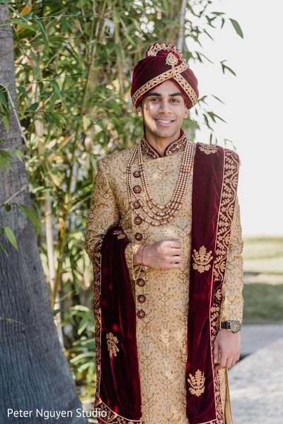 Indian groom waiting for his bride.