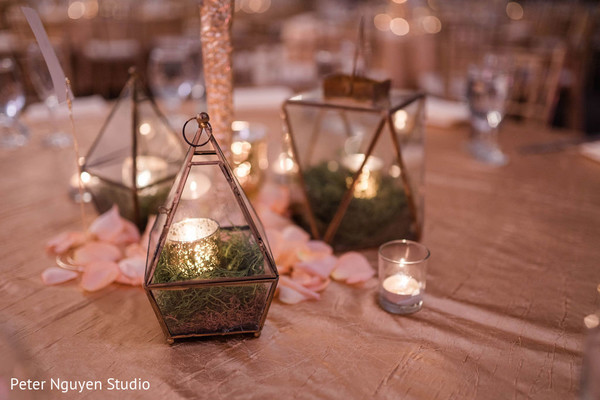 Indian wedding table candle holders.