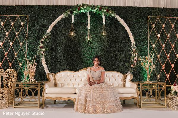 Maharani on her ivory reception dress.