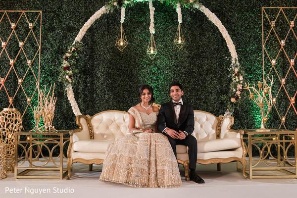Maharani and raja on their wedding reception stage.
