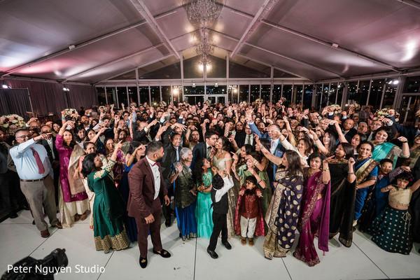 Indian wedding recelption party capture.