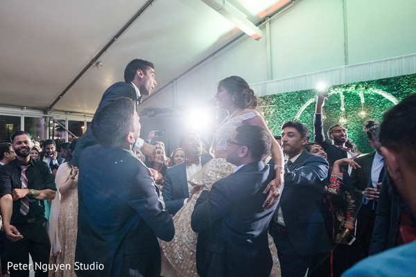 Indian wedding reception traditional celebration.
