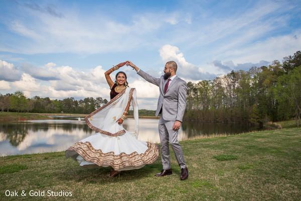 Ravishing indian couple at their marvellous photoshoot