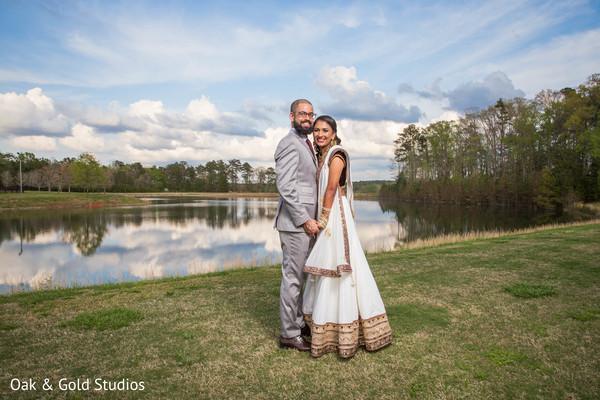 Beautiful Indian couple posing