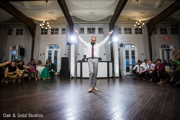 Elegant Indian Groom at their wedding reception