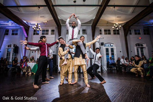 Marvelous groomsmen choreography at reception