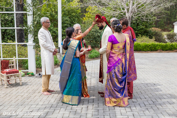 Indian groom's at the traditional ceremony