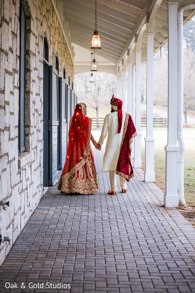 Indian couple looking