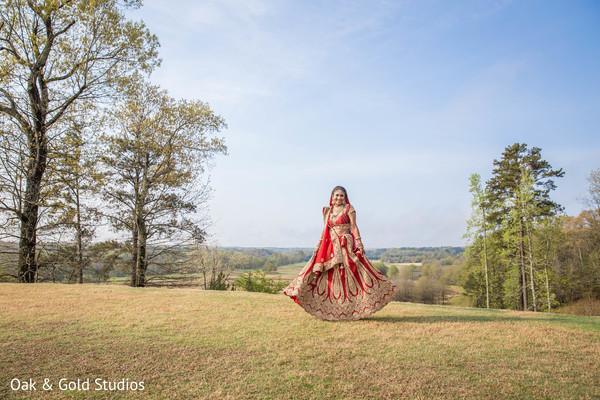 Dazzling indian bride.