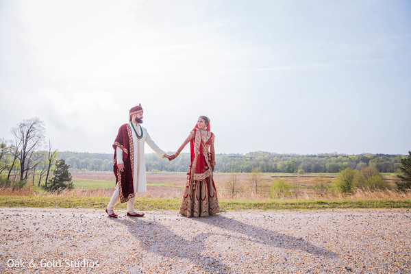 Lovely Indian couple at photoshoot