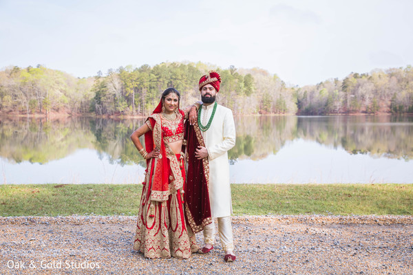 Indian couple posing during Photo shoot