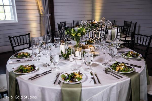 Indian wedding reception table decoration